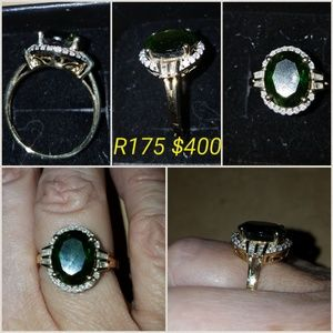 Jewelry - Chrome Diopside/Diamond Ring
